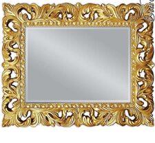 Wall Mirror Gold Ornament 100x80 Standing Floor Bathroom