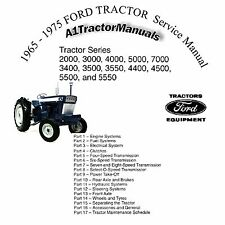 Ford Tractor 2000-7000 Shop Manual CD 1971 1972 1973 1974 1975 Repair CD