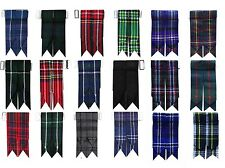 Kilts Hose Sock Flashes With Garter Various Tartans Pointed Highland Wear Unisex