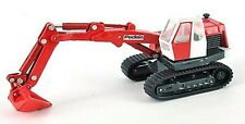 Poclain TC45 - Tracked Excavator - 1/87th Scale Red/White/Grey - Tracked 48 Post