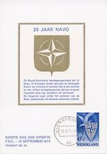 Nederland / Netherlands - First Day Card - The Hague / 25 Years NATO (1974)