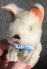 "Rare Antique Miniature White 3"" Mohair Schuco Scottie Scottish Terrier Doll Dog"