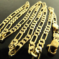NECKLACE PENDANT CHAIN GENUINE REAL 18K YELLOW G/F GOLD ITALIAN LINK DESIGN