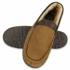 Chaps Men's Slipper House Shoe Moccasin Memory Foam Micro Suede, XXX-Large 13-14