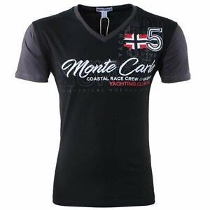 Geographical Norway T-Shirt Kurzarm Monte Carlo V-Neck NEU Qualität Original 10J