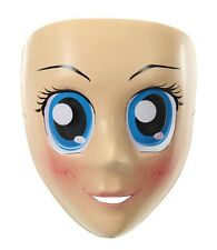 PVC Female ANIME BLUE EYED MASK costume cartoon girl Halloween  cosplay big eye