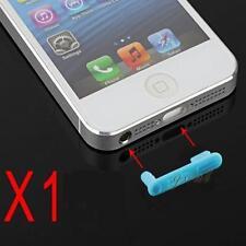 Stopper Antipolvere Doppio Cuffie Dock Anti Dust Azzurro per Iphone 5 5S 5C SE