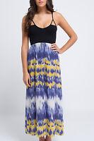 Just Add Sugar Womens Destination Maxi Dress Black Multi-Coloured RRP $79.95