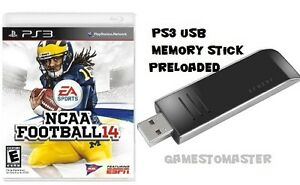 NCAA 14  NCAA 21 - 22 FOOTBALL ROSTERS READY - PS3 USB MEMORY STICK