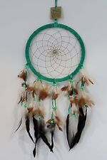 NEW LARGE RING DREAM CATCHER IN GREEN SUEDE 60CM DROP HELP BAD DREAMS /dcle22gre