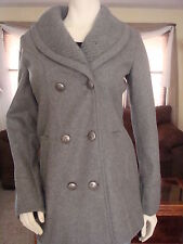 NWT GUESS HEATHER GREY WOOL W/OUT HOOD JACKET/COAT 100% AUTHENTIC-PSM