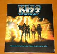 KISS PHONE CARDS 7 PIECE SET IN BOOKLET 1996 OFFICIAL
