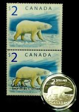 2004 Canada $2 Coin & Stamp Set 'The Proud Polar Bear'