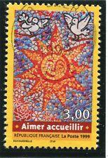 TIMBRE FRANCE OBLITERE N° 3255 AIMER ACCUEILLIR / Photo non contractuelle