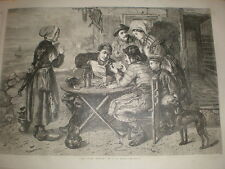 The Lucky Number from J T Lucas 1866 old print lottery draw
