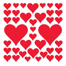 Adesivi e stancil da parete adesivo di amore e cuori