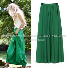 Chiffon Solid Regular Size Skirts for Women