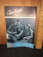 Cine-Kodak Editing & Titling Equipment Home Movies 1947 Brochure B&W Photos