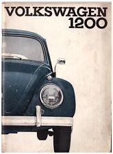 Libretto di uso e manutenzione Volkswagen Maggiolino ed.1964 1200 cc PDF