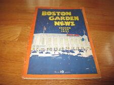 Boston Garden BRUINS 1931 Program vs DETROIT FALCONS Weiland Clapper Shore