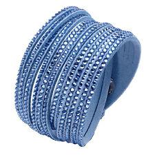 Crystal Summer Cuff Rhinestone Slake Blue Bracelet Swarovski Element