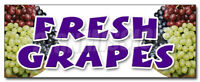 FRESH GRAPES DECAL sticker organic picked white purple red green local