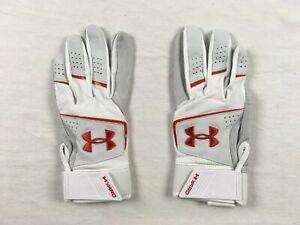 Under Armour Batting Gloves Men's Gray/White HeatGear Batting Gloves NEW XL