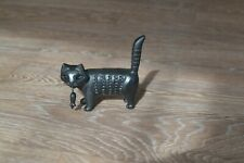 RUSSIAN KASLI CAST IRON Figurine Sculpture Statue CAT & MOUSE