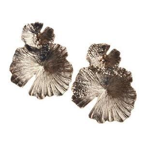 Fashion Earrings Alloy Leaf Lotus Shape Women Wedding Jewelry Supply C