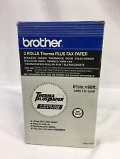 """Brother 6890 (2 Pack) Therma Plus Fax Paper Rolls - 8 1/2"""" x 98 Feet Rolls"""