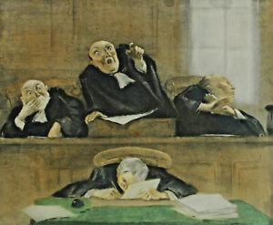 Signed Hoffmann - IN Court Gerichtsszene