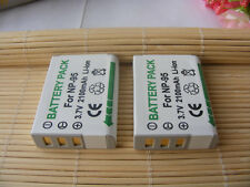 2 NP-95 Battery for FUJIFILM Fuji Finepix X100S X100 X-S1 F30 Camera 2100mAH