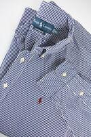 RALPH LAUREN CUSTOM FIT Men's X LARGE Chalk Stripe Button Down Shirt 33550_GS