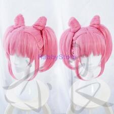Japan Anime Sailor Moon Chibi Moon Full Wig Cosplay Party Lolita Pink Hair Wigs