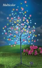 5 Ft. Solar 200 Lights Multi-Colored Cherry Blossom Christmas Tree Yard Decor