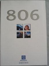 Peugeot 806 range brochure Jul 1998