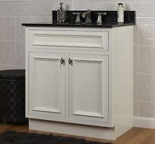 "JSI Danbury White Bathroom 24""W Vanity Cabinet Base 2 Doors Solid Wood Frame NEW"