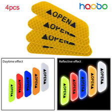 4x Car Open Sticker Reflective Tape Warning Safety Auto Decal  Sticker Yellow