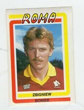 figurina CALCIO FLASH 1988 NUMERO 221 ROMA BONIEK