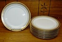 "10 Royal Cauldon Porcelain Salad Plates - L4000 - 8 3/4"" - Scratching"