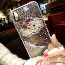 Fashion Cute Clouds Glitter Sequins Gold Foil Case Cover For iphone X 6s 7 8Plus