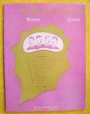 1945 Sheet Music ~ Eleven Christmas Hymns & Carols ~ Chas. H. Hansen Music