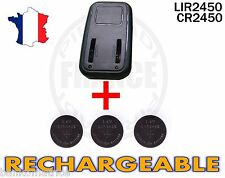 CHARGEUR + 3 PILES BOUTON CR2450 RECHARGEABLE 3.6V LIR2450 CR2450 BATTERY ACCU