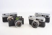 Lot of 4 Vintage Canon Canonet 35mm Film Cameras for PARTS OR REPAIR V14