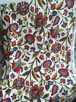 "Vintage Fabric 1960's House ""N"" Home Fabric Bark Cloth Era Floral 49x47"""