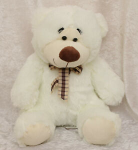 Cuddles Collection white 17 inches tall teddy bear