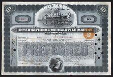 1924 IMM Company (White Star Line) Original Titanic Stock Certificate