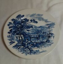 """Vintage Blue Countryside Scene Wedgewood Co China England Bread Butter Plate 7"""""""