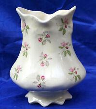 Antique Ironstone English Vase  with Rosebud Pattern