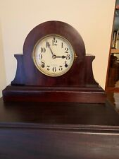 New ListingVintage Ingraham Tambour Mantel / Shelf Clock - Good Running Condition